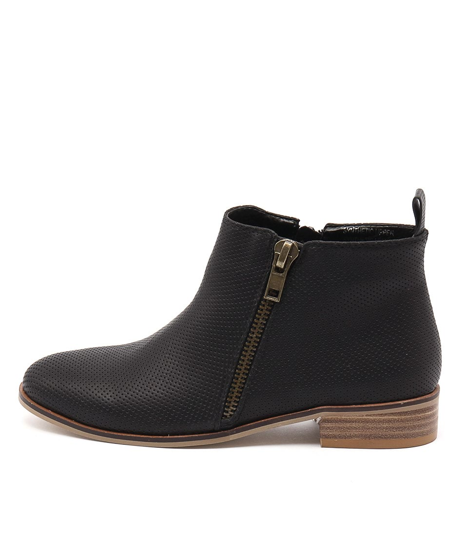 Buy Ko Fashion Banik Black Ankle Boots online with free shipping