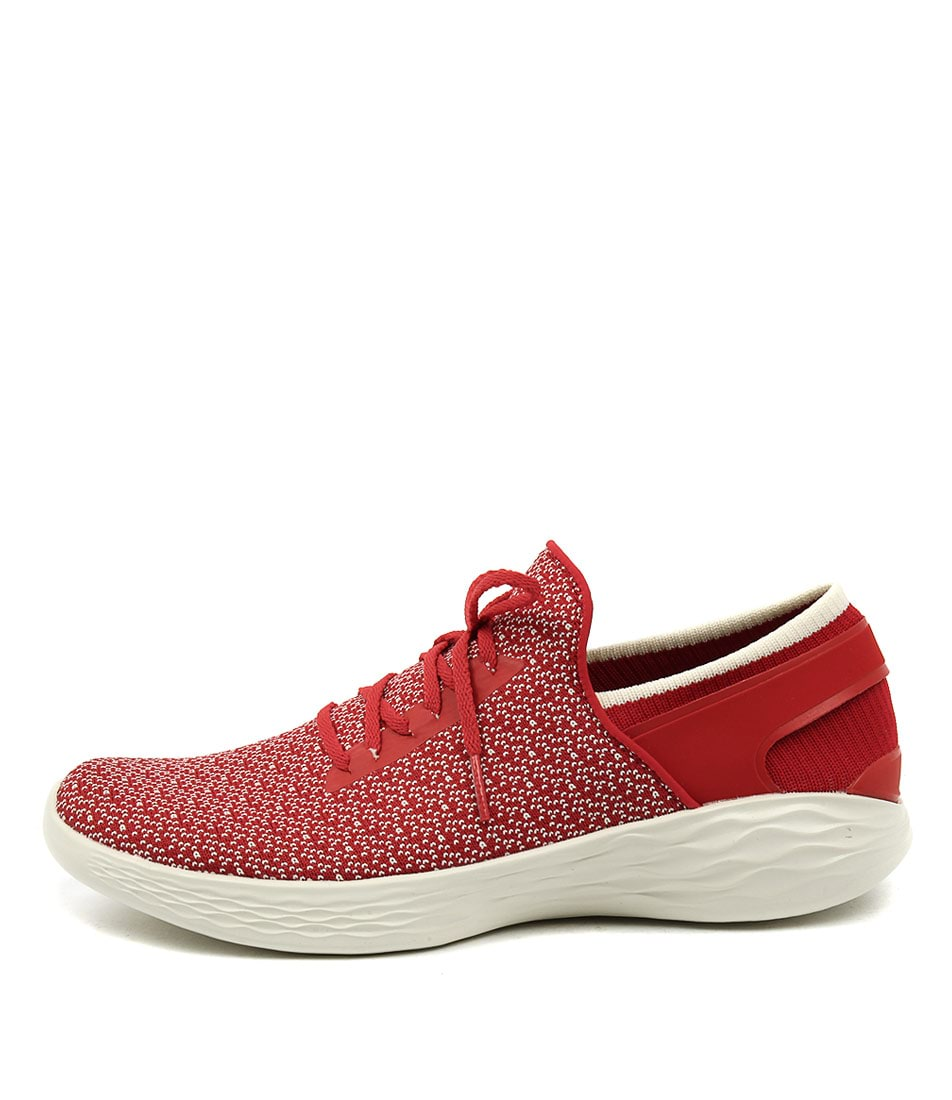 You By Skechers You Inspire Red Sneakers