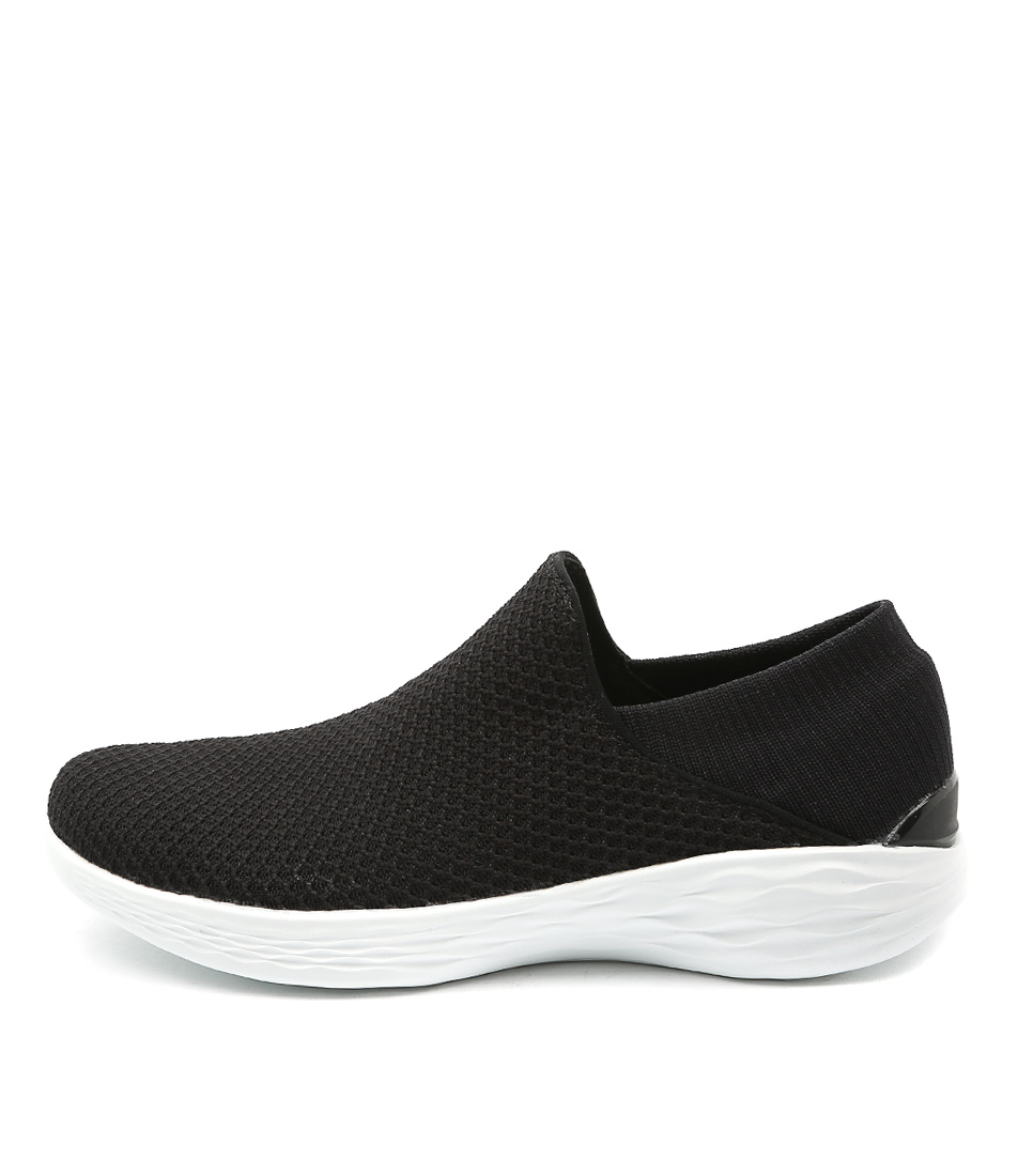You By Skechers You Black White Sneakers