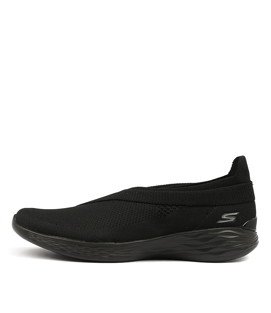 You By Skechers You Luxe Black Sneakers