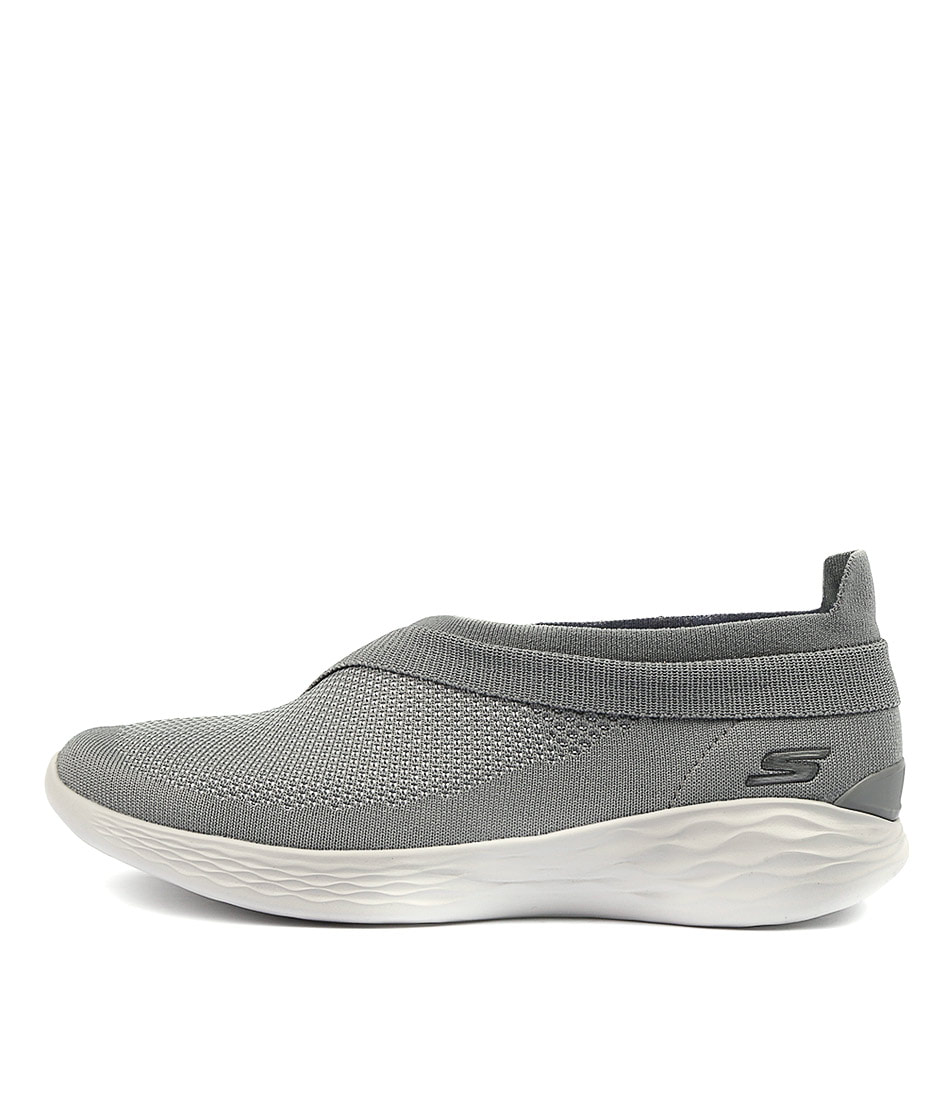 You By Skechers You Luxe Grey Sneakers