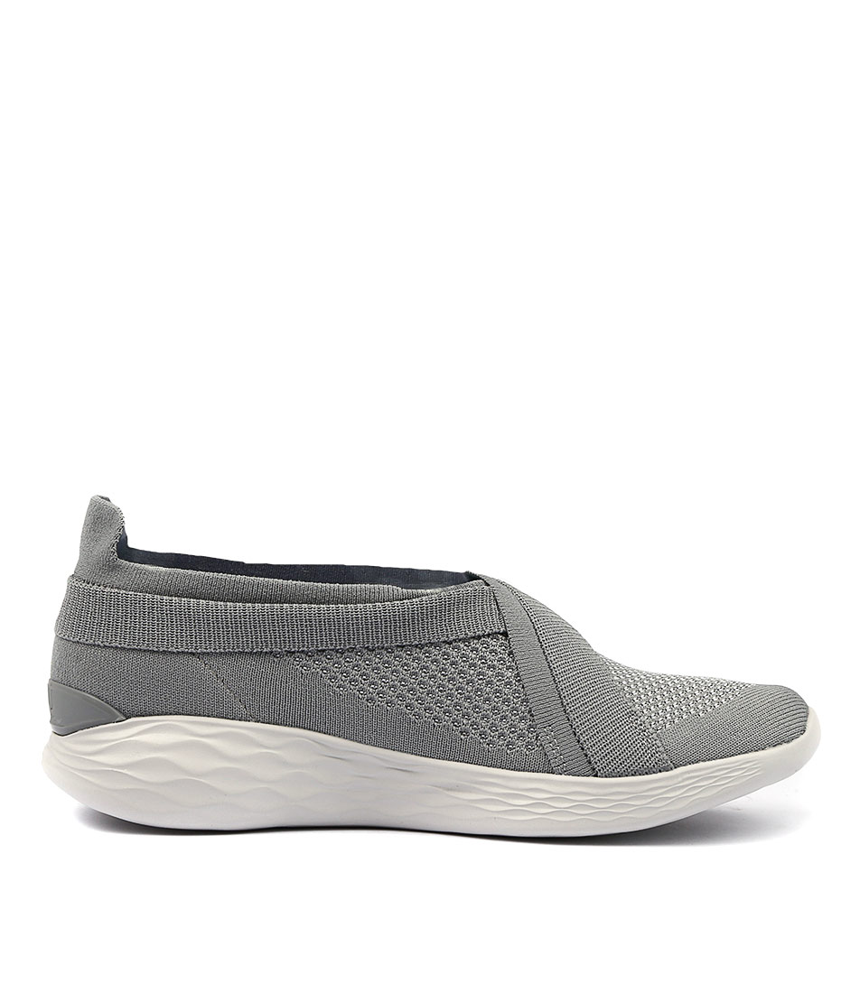 New You By Skechers Skechers Skechers You Luxe Grey Womens shoes Casual Sneakers Casual ed92ea