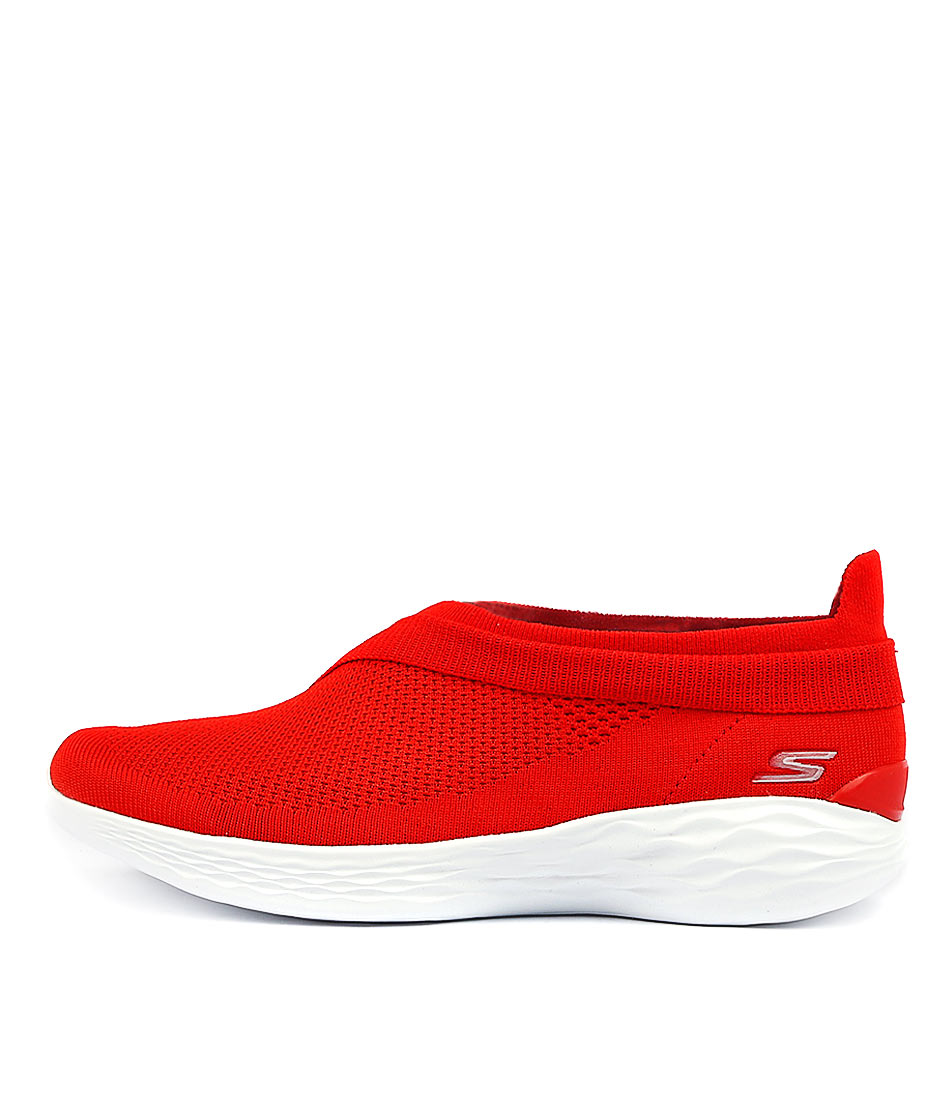 You By Skechers You Luxe Red Sneakers