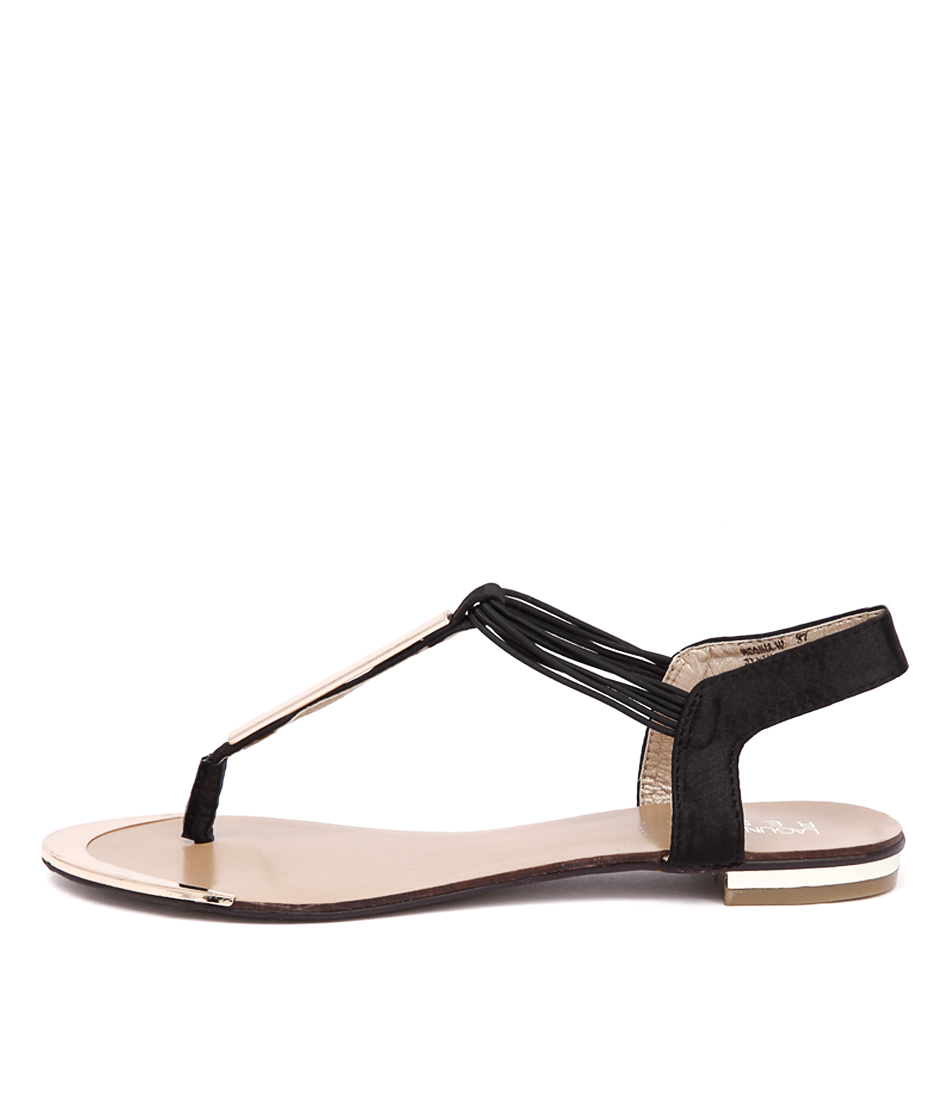 Laguna Quays Regina W Black Flat Sandals