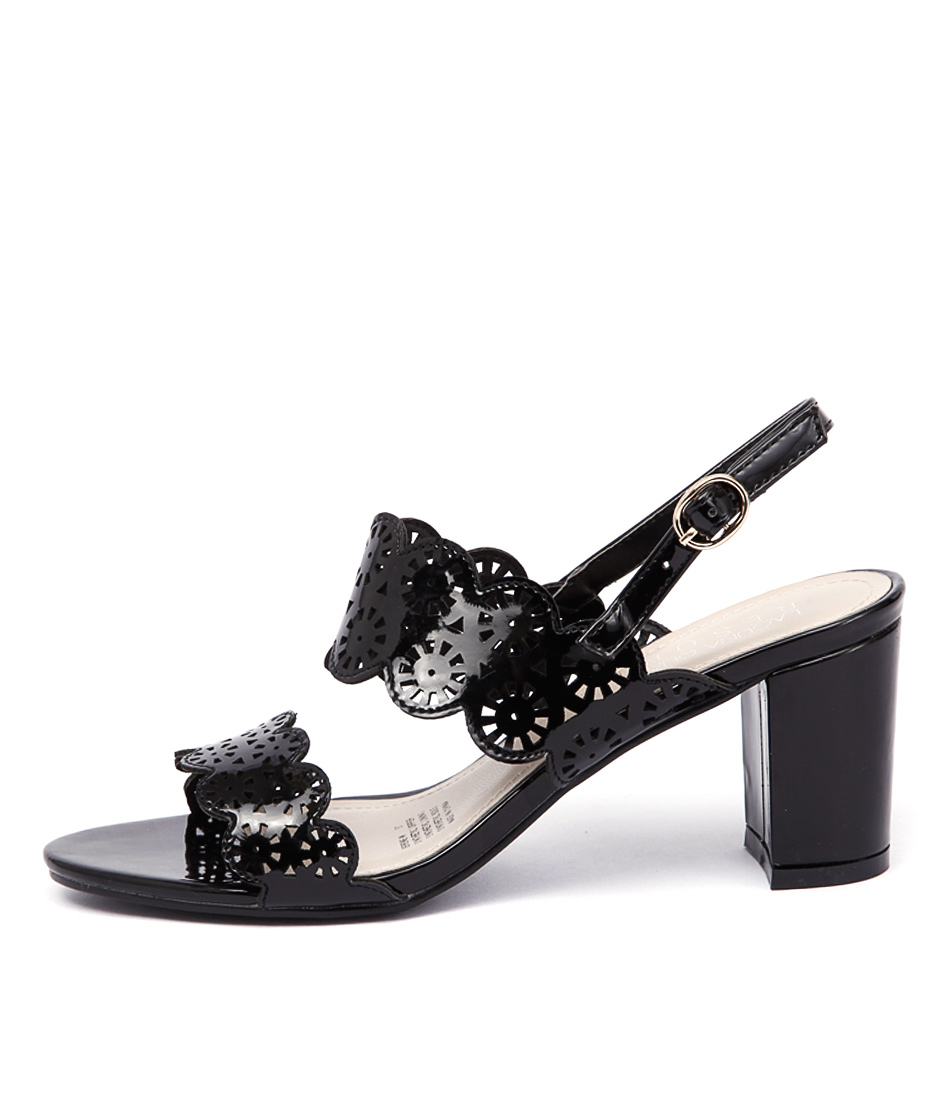 Laguna Quays Serene Black Casual Heeled Sandals