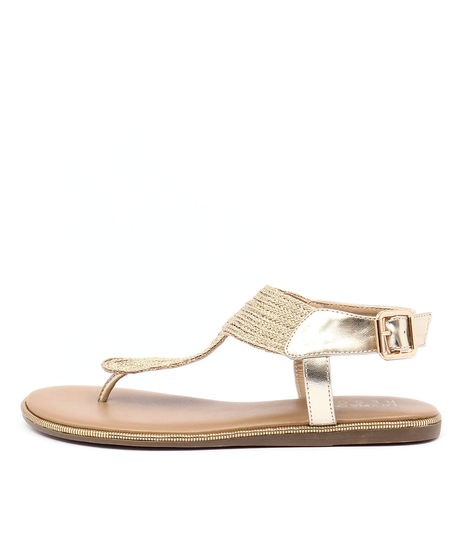 Laguna Quays Tilly Lq Gold Casual Flat Sandals