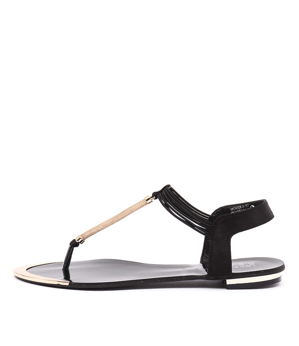 Laguna Quays Spencer Lq Black Dress Flat Sandals