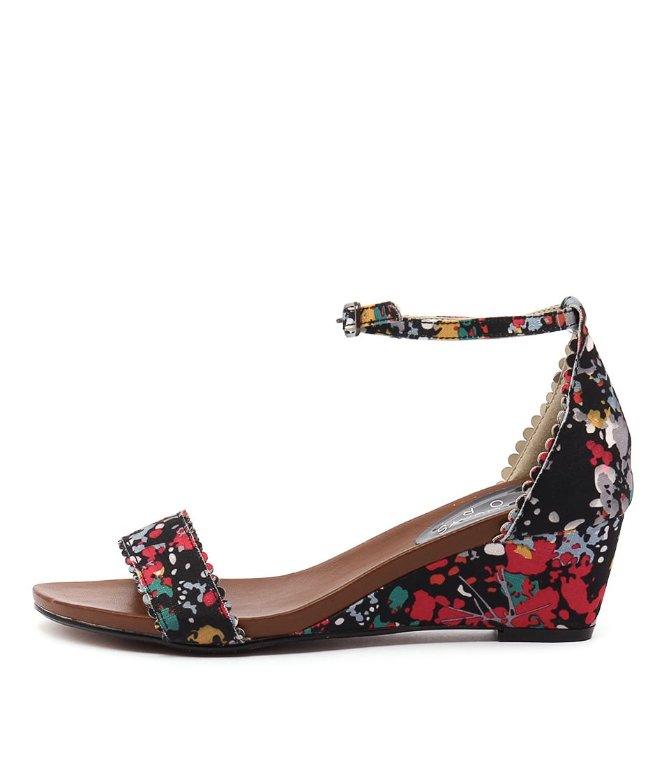 Laguna Quays Dula Wild Print Casual Heeled Sandals
