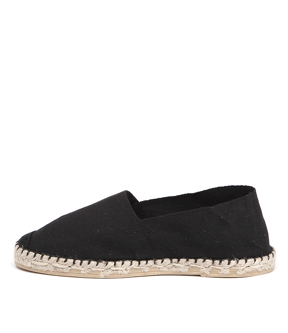 La Maison De L'espadrille 410 Noir Flat Shoes