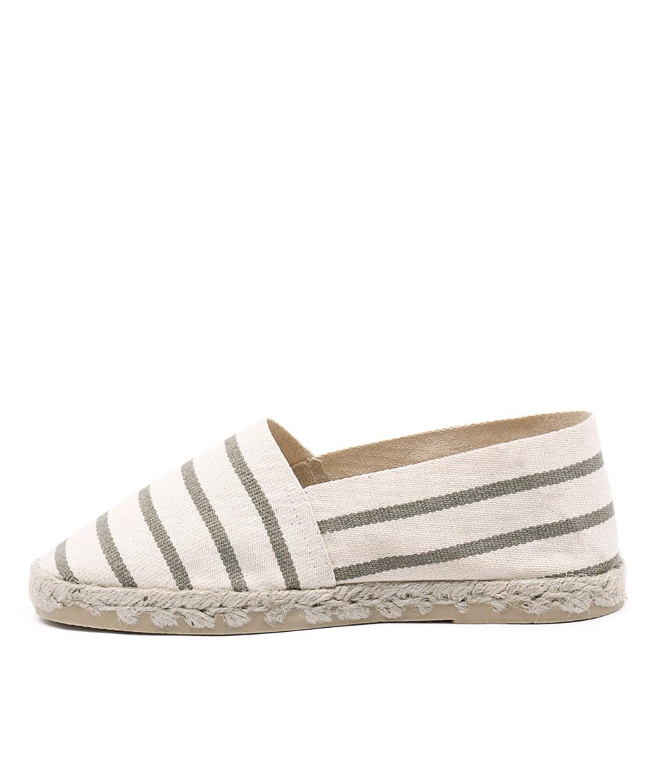La Maison De L'espadrille 320 Ecru Linen Casual Flat Shoes