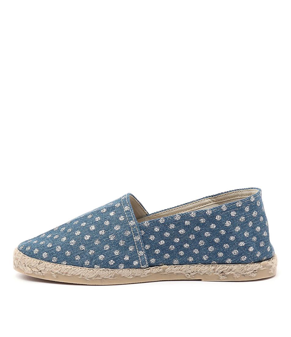 La Maison De L'espadrille 324 Argent Casual Flat Shoes