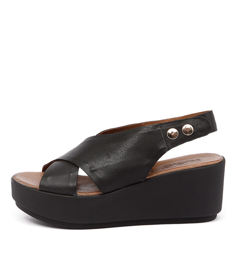 Inuovo Las Lajas Black Casual Heeled Sandals