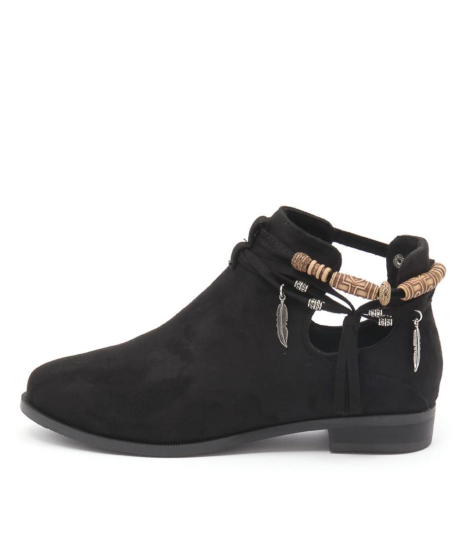 Lavish Jada Lv Black Ankle Boots