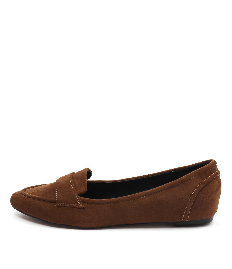Lavish Cheri Cognac Flat Shoes
