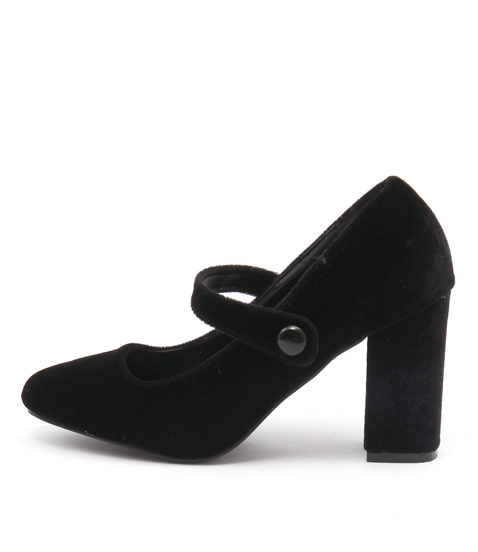 Lavish Veeva Black Casual Heeled Shoes