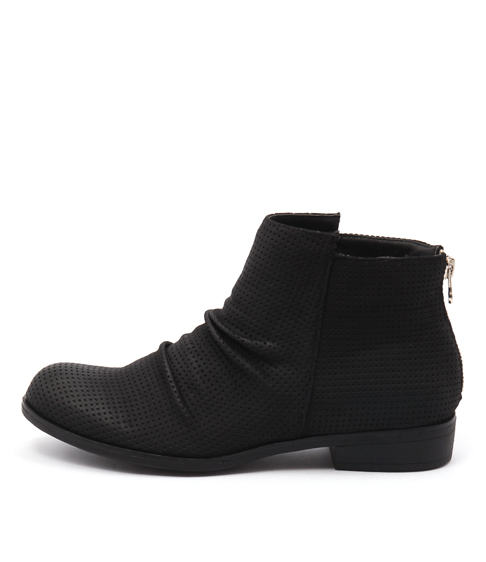 Lavish Seirra Black Casual Ankle Boots buy  online