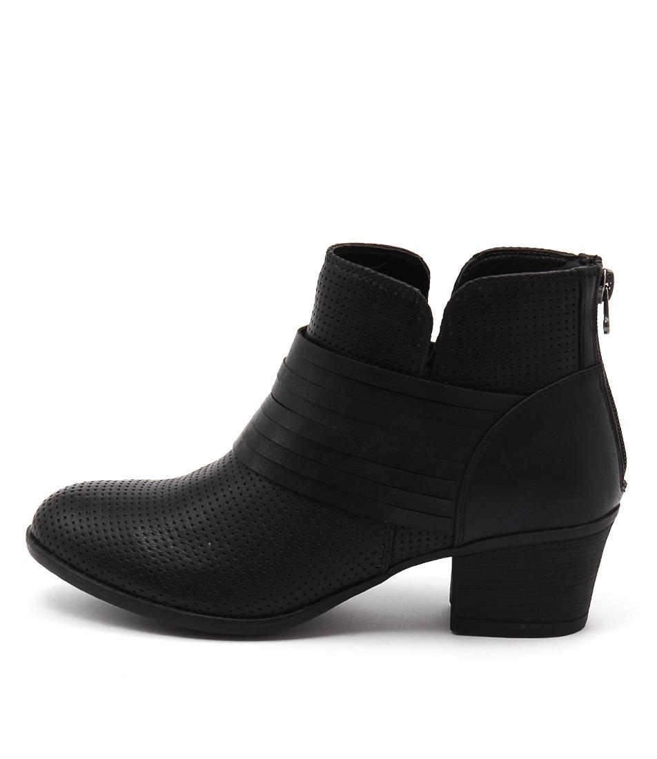 Lavish Lasso Lv Black Casual Ankle Boots