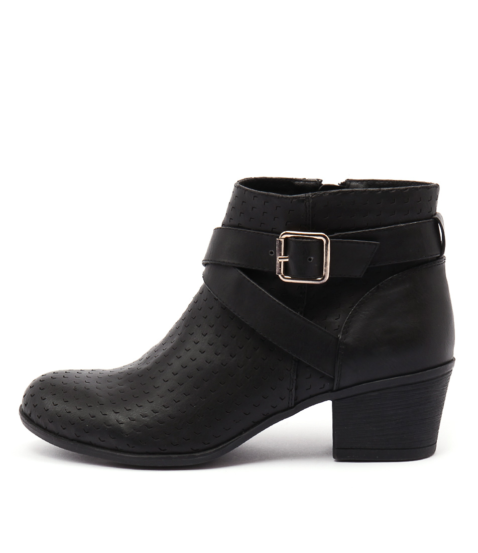 Lavish Lauren Lv Black Casual Ankle Boots