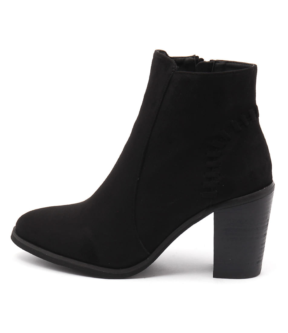 Lavish Britney Lv Black Casual Ankle Boots