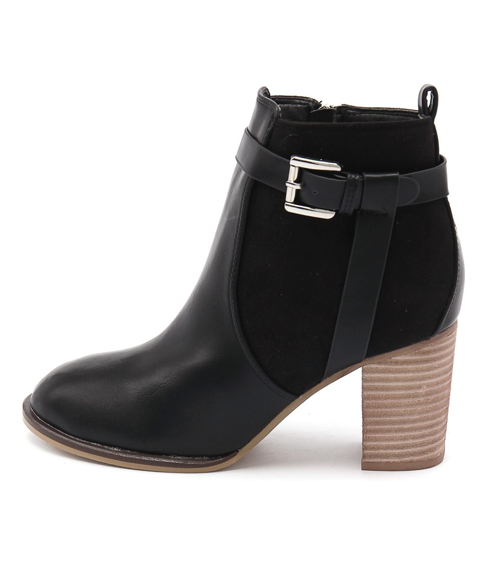 Lavish Blancha Black Casual Ankle Boots
