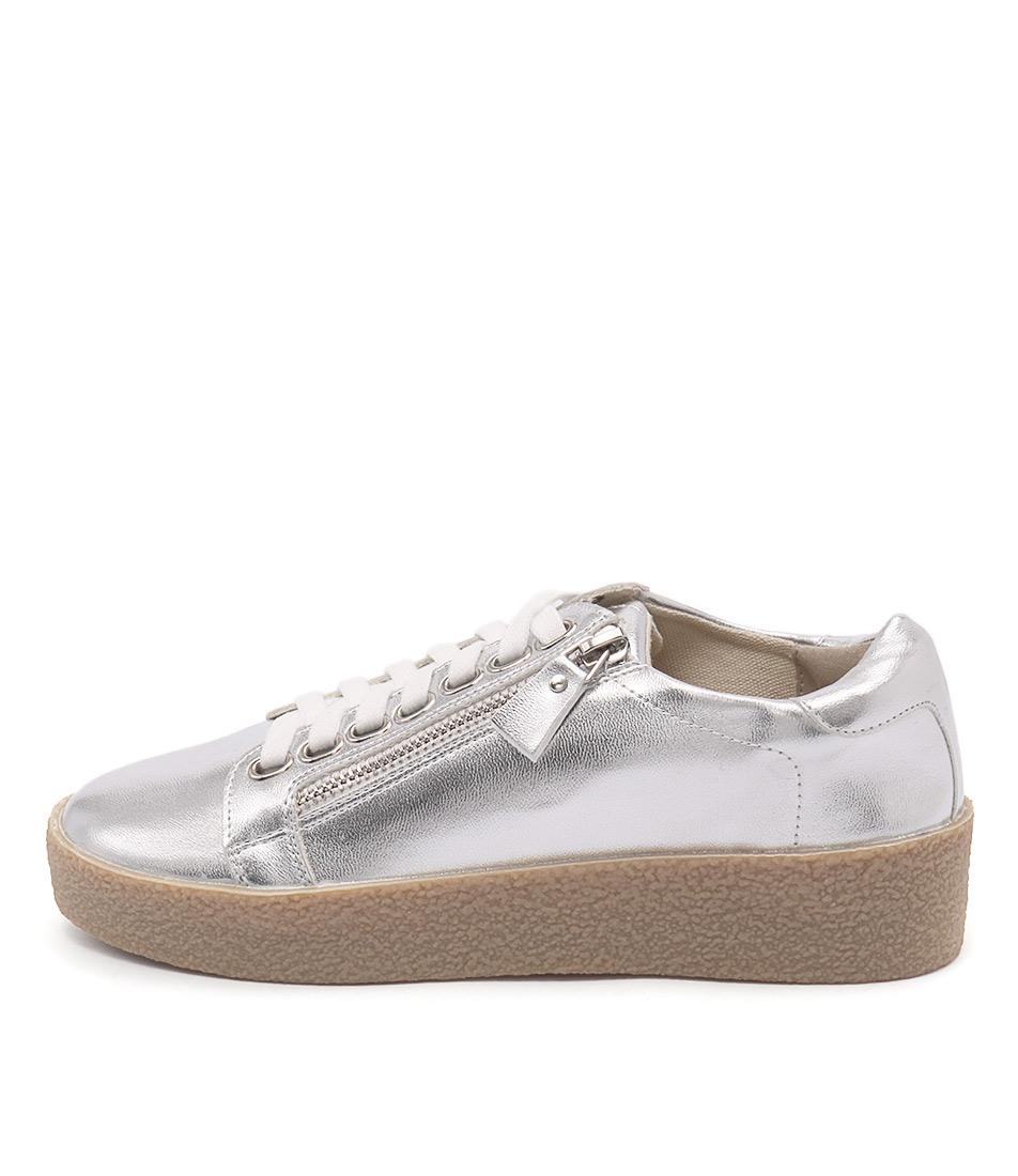 Lavish Tiramisu Silver Metallic Sneakers