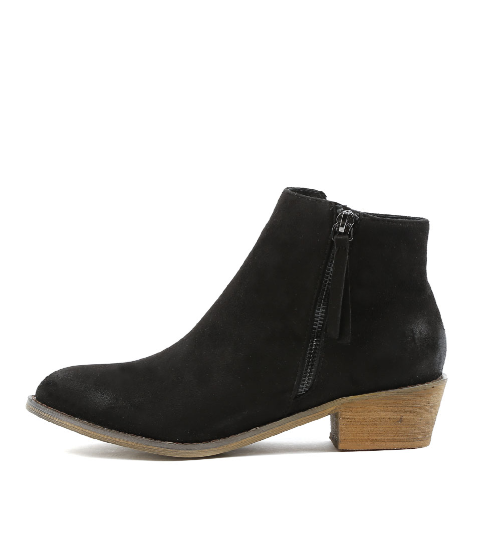 Los Cabos Jess W Black Ankle Boots