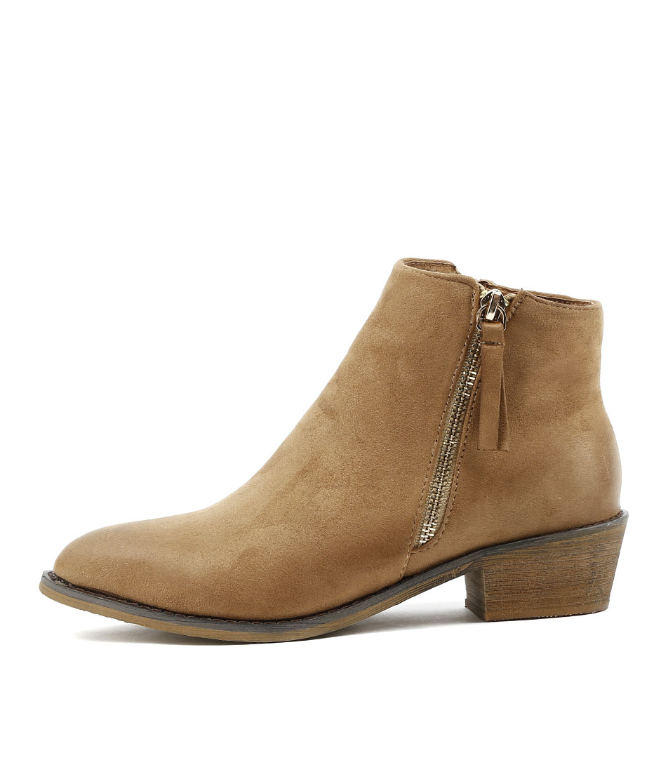 Los Cabos Jess W Tan Ankle Boots