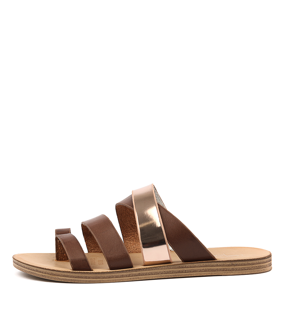 Los Cabos Kitana W Chestnut Rose G Casual Heeled Sandals