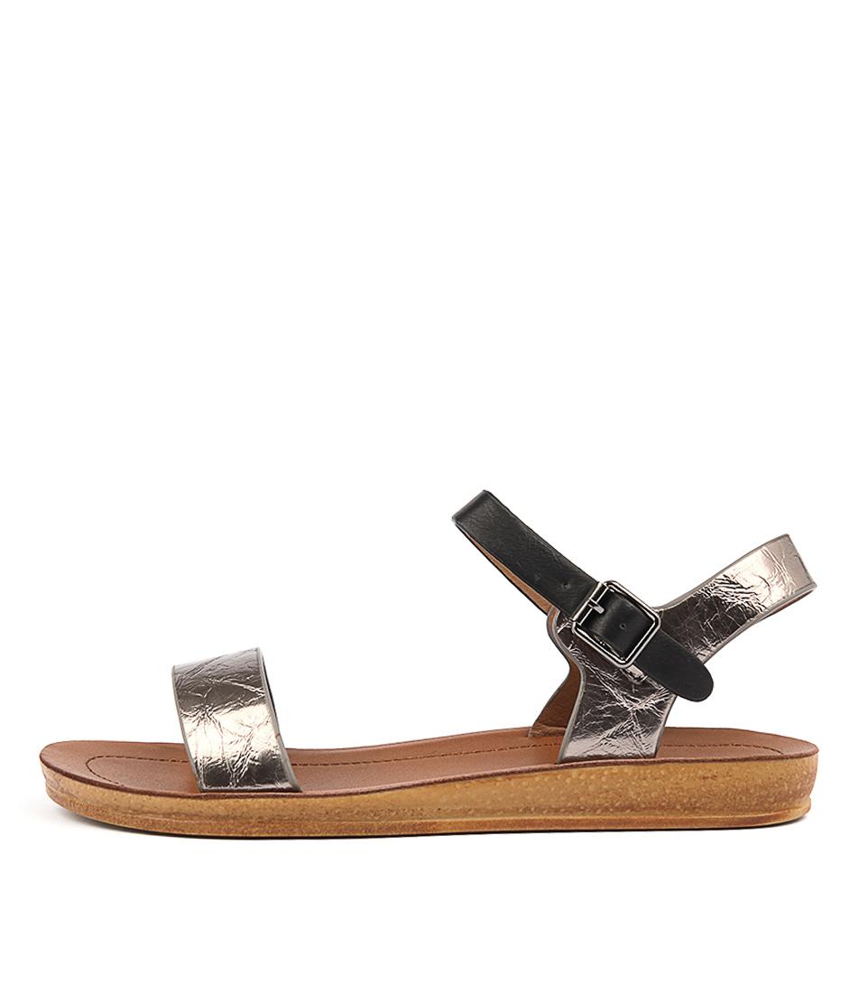 Los Cabos Kesh W Black Pewter Sandals