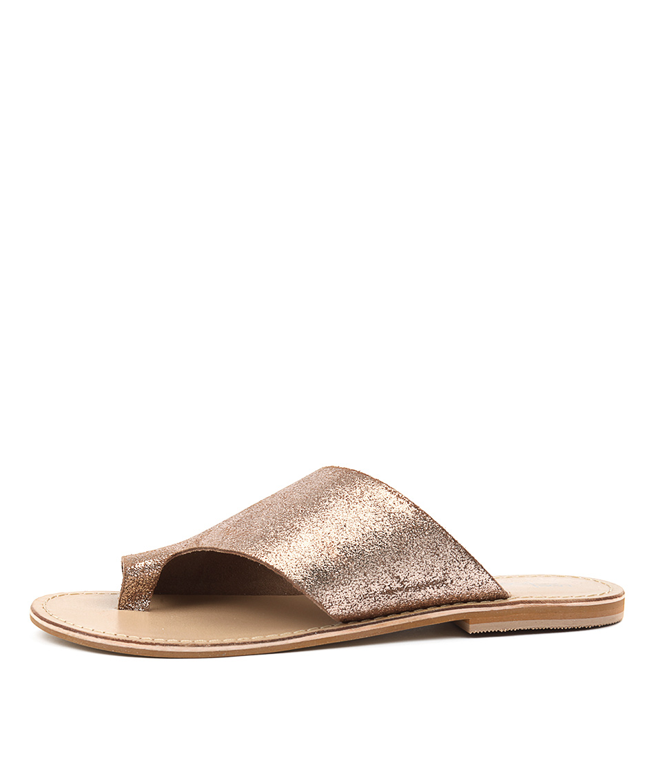 Buy Los Cabos Toorak W Rose Gold Flat Sandals online with free shipping