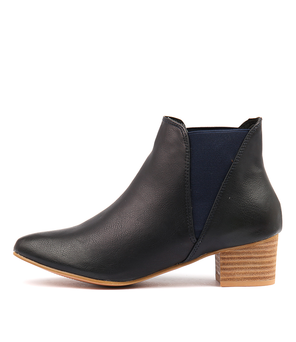 Buy Los Cabos Clarin W Navy Ankle Boots online with free shipping