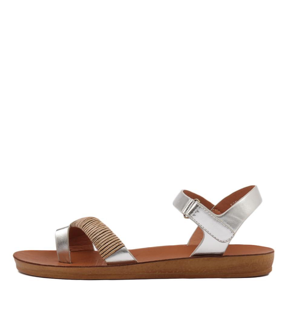 Los Cabos Brenna W Silver Sandals