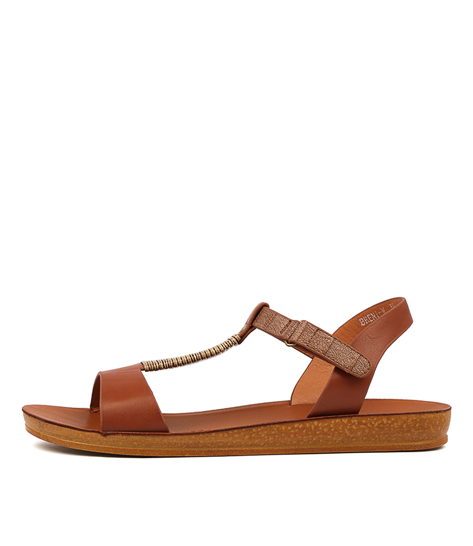 Buy Los Cabos Breni W Brandy Flat Sandals online with free shipping