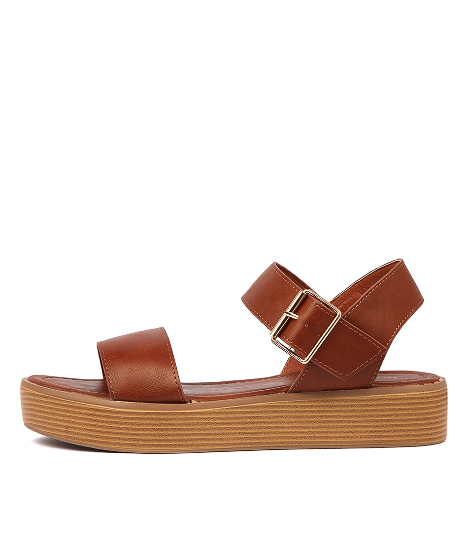 Buy Los Cabos Moni W Brandy Flat Sandals online with free shipping
