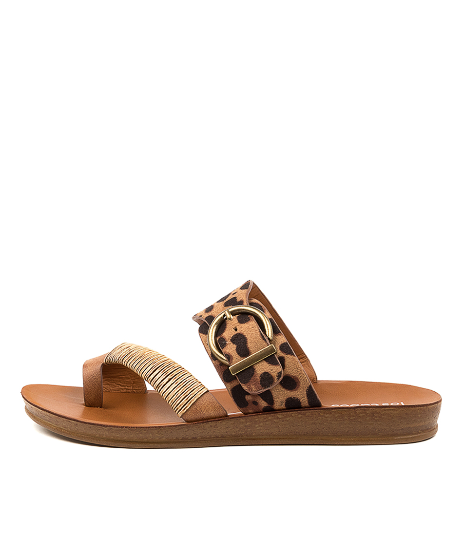Buy Los Cabos Bria W Lc Leopard Flat Sandals online with free shipping