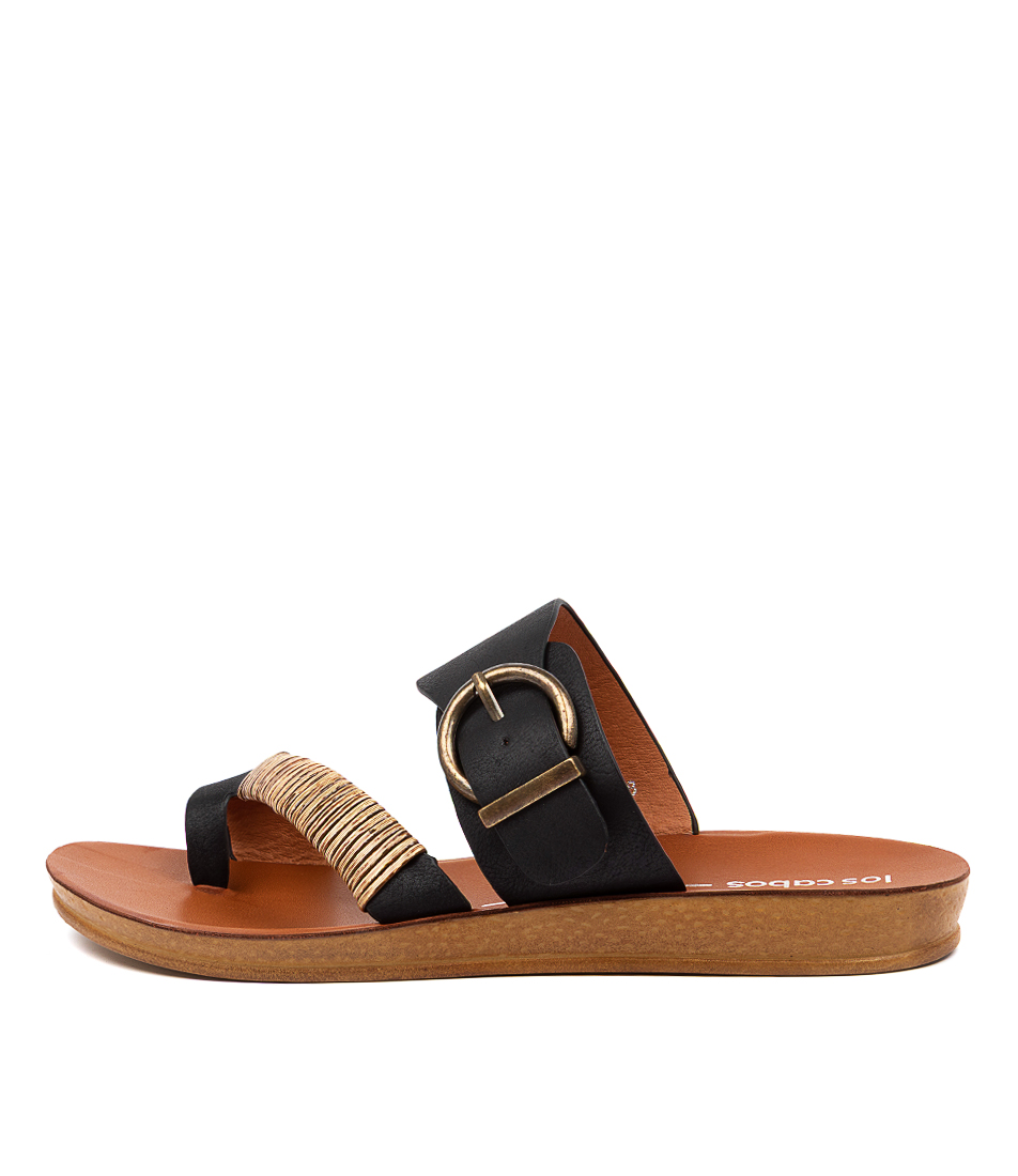 Buy Los Cabos Bria W Lc Black Flat Sandals online with free shipping