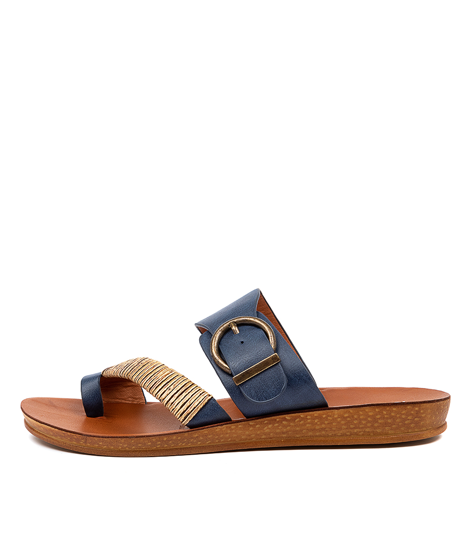 Buy Los Cabos Bria W Lc Navy Flat Sandals online with free shipping
