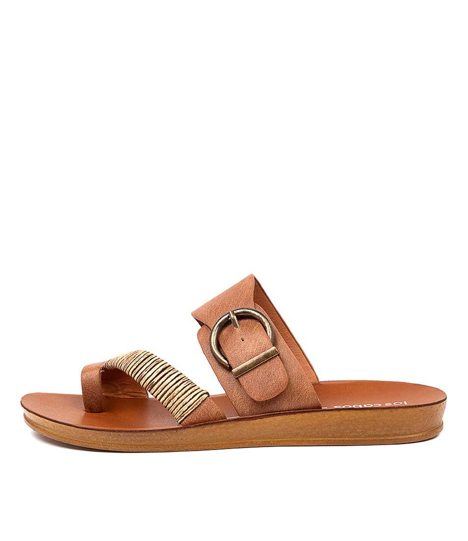 Buy Los Cabos Bria W Lc Brandy Flat Sandals online with free shipping