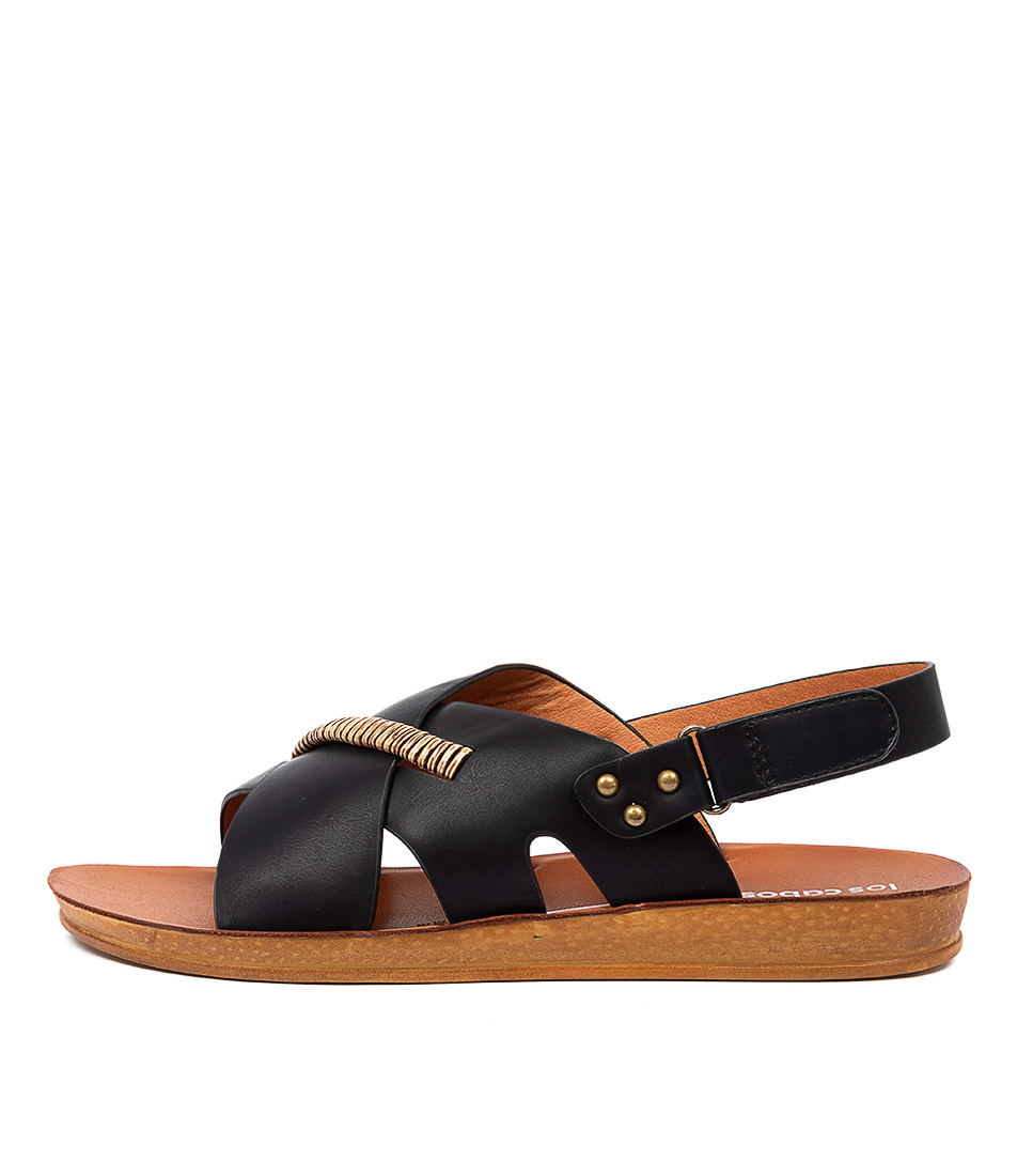 Buy Los Cabos Benji W Lc Black Flat Sandals online with free shipping