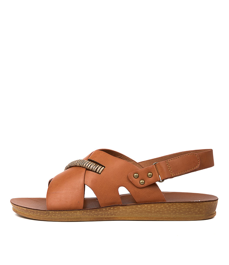 Buy Los Cabos Benji W Lc Tan Flat Sandals online with free shipping
