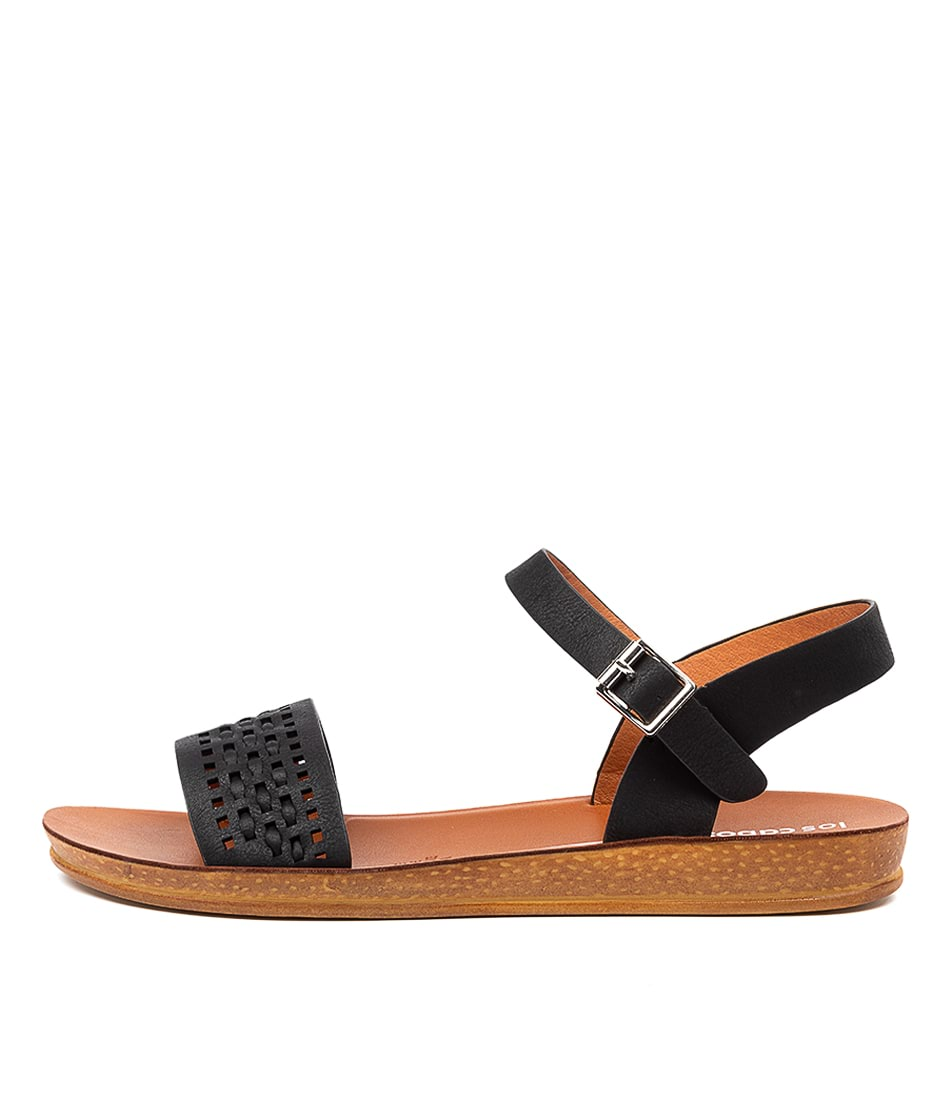 Buy Los Cabos Conty W Lc Black Flat Sandals online with free shipping