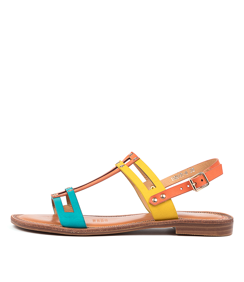 Buy Los Cabos Inmar W Lc Orange Multi Flat Sandals online with free shipping