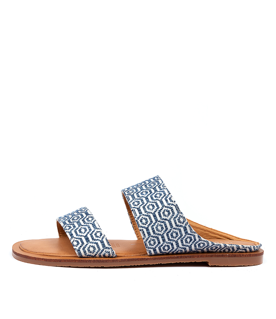 Buy Los Cabos Wally W Lc Blue White Flat Sandals online with free shipping