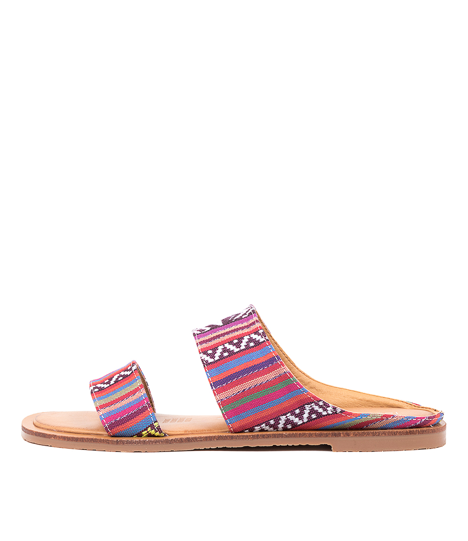 Buy Los Cabos Wally W Lc Red Multi Flat Sandals online with free shipping
