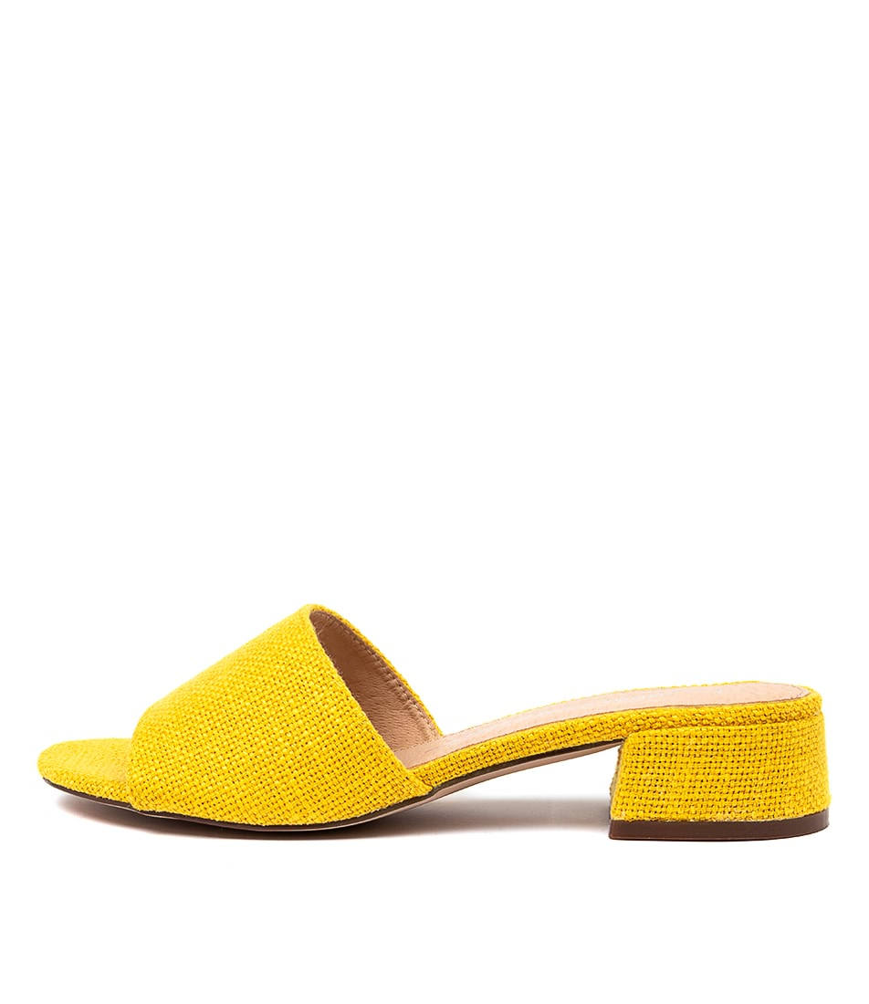 Buy Los Cabos Zayne W Lc Dk Yellow Tan Heeled Sandals online with free shipping