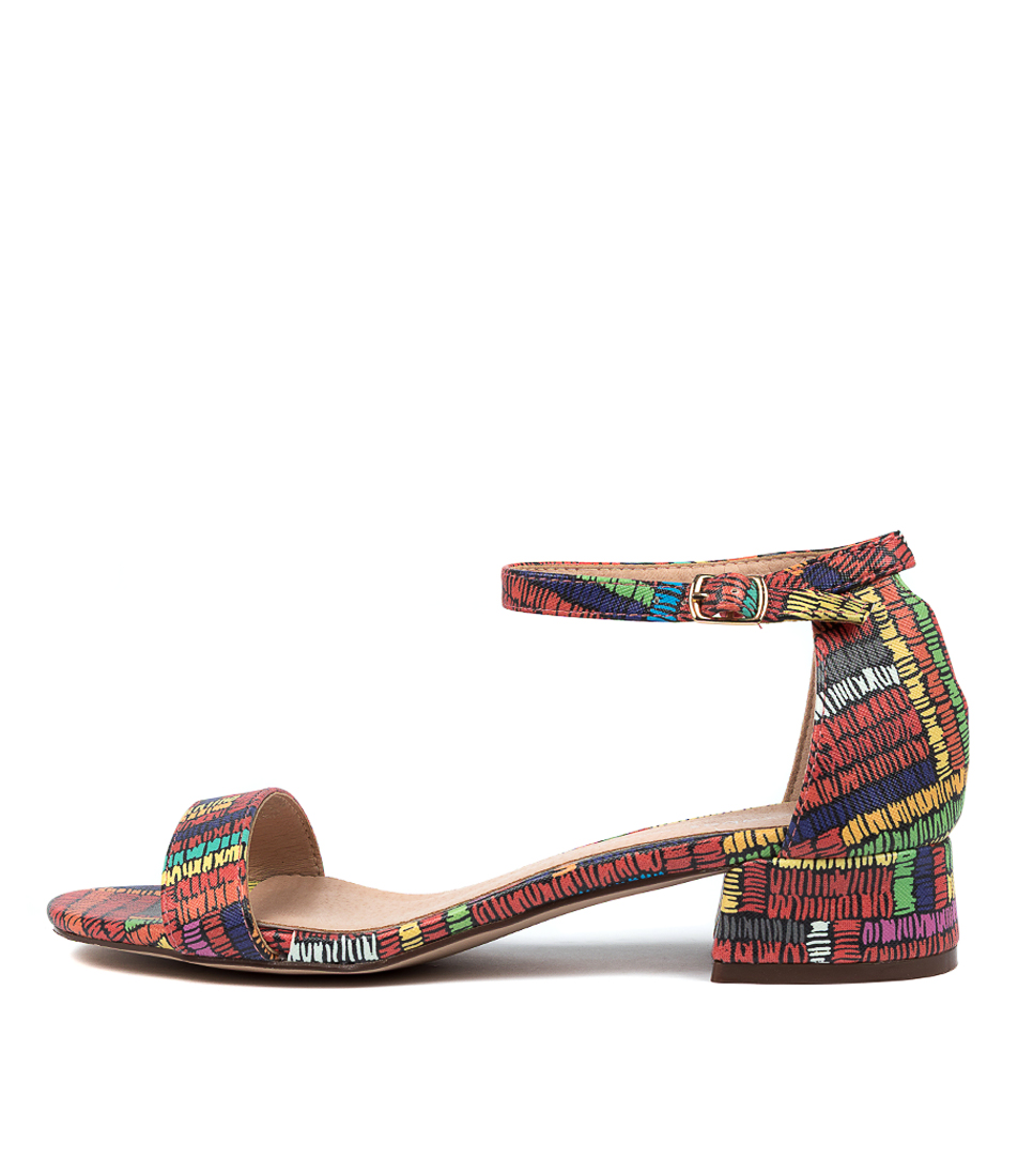 Buy Los Cabos Zaybe W Lc Red Multi Heeled Sandals online with free shipping