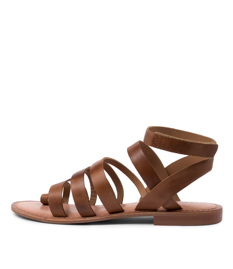 Buy Los Cabos Amanda W Lc Brandy Flat Sandals online with free shipping