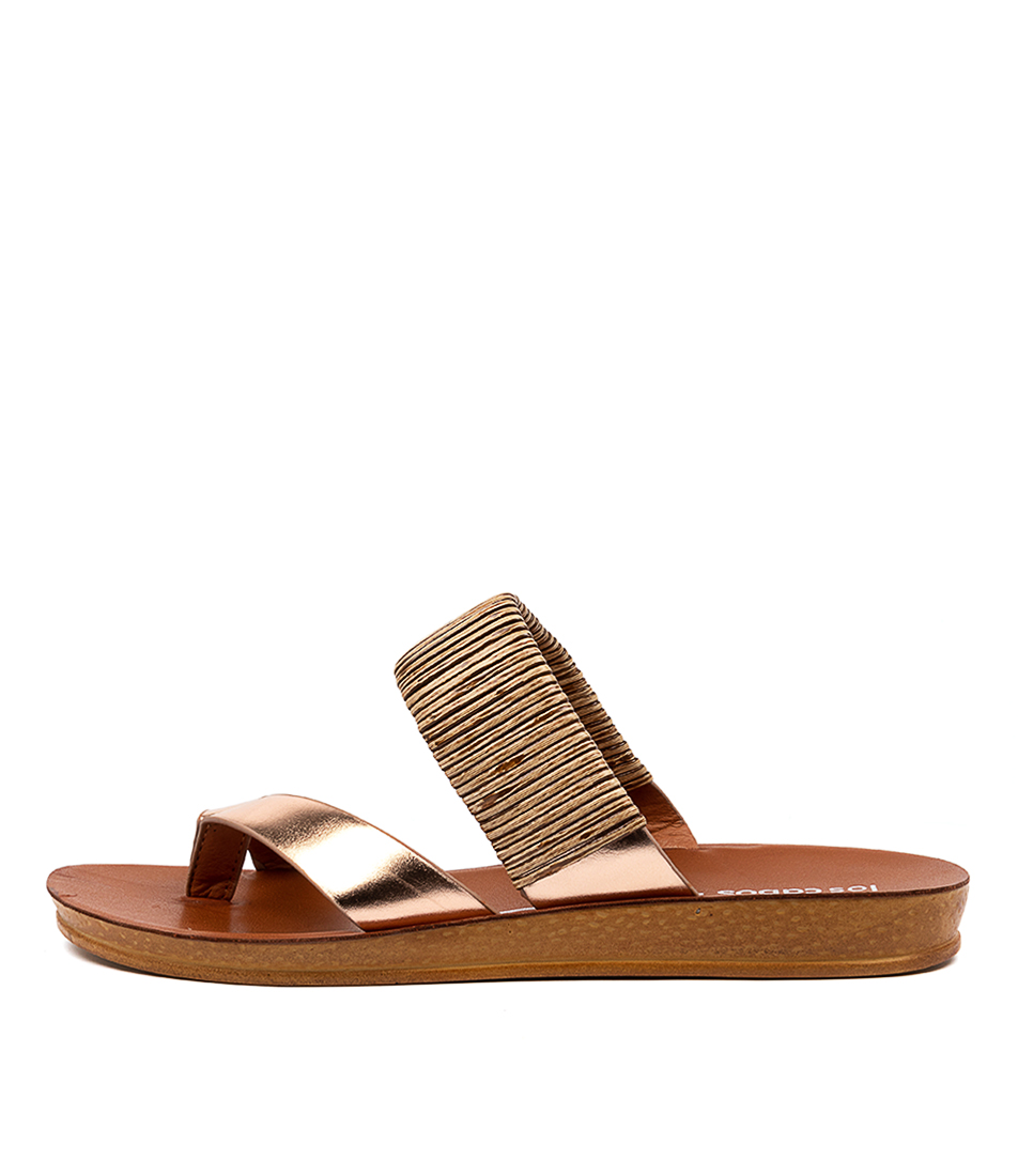 Buy Los Cabos Brit W Lc Rose Gold Flat Sandals online with free shipping