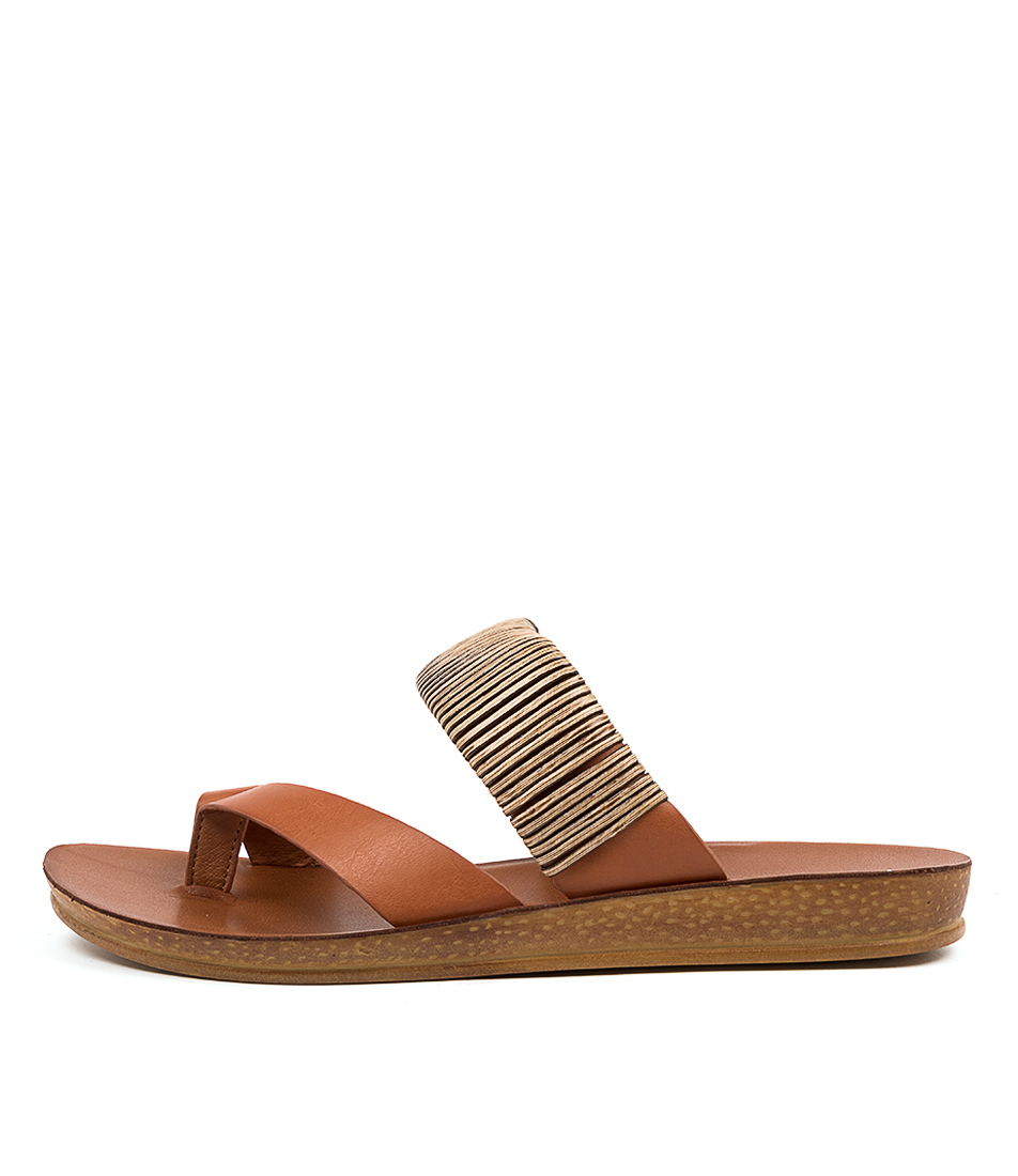 Buy Los Cabos Brit W Lc Tan Flat Sandals online with free shipping