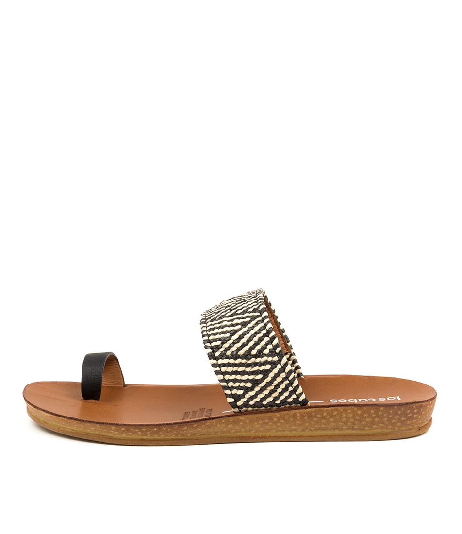 Buy Los Cabos Di W Lc Black Nude Flat Sandals online with free shipping